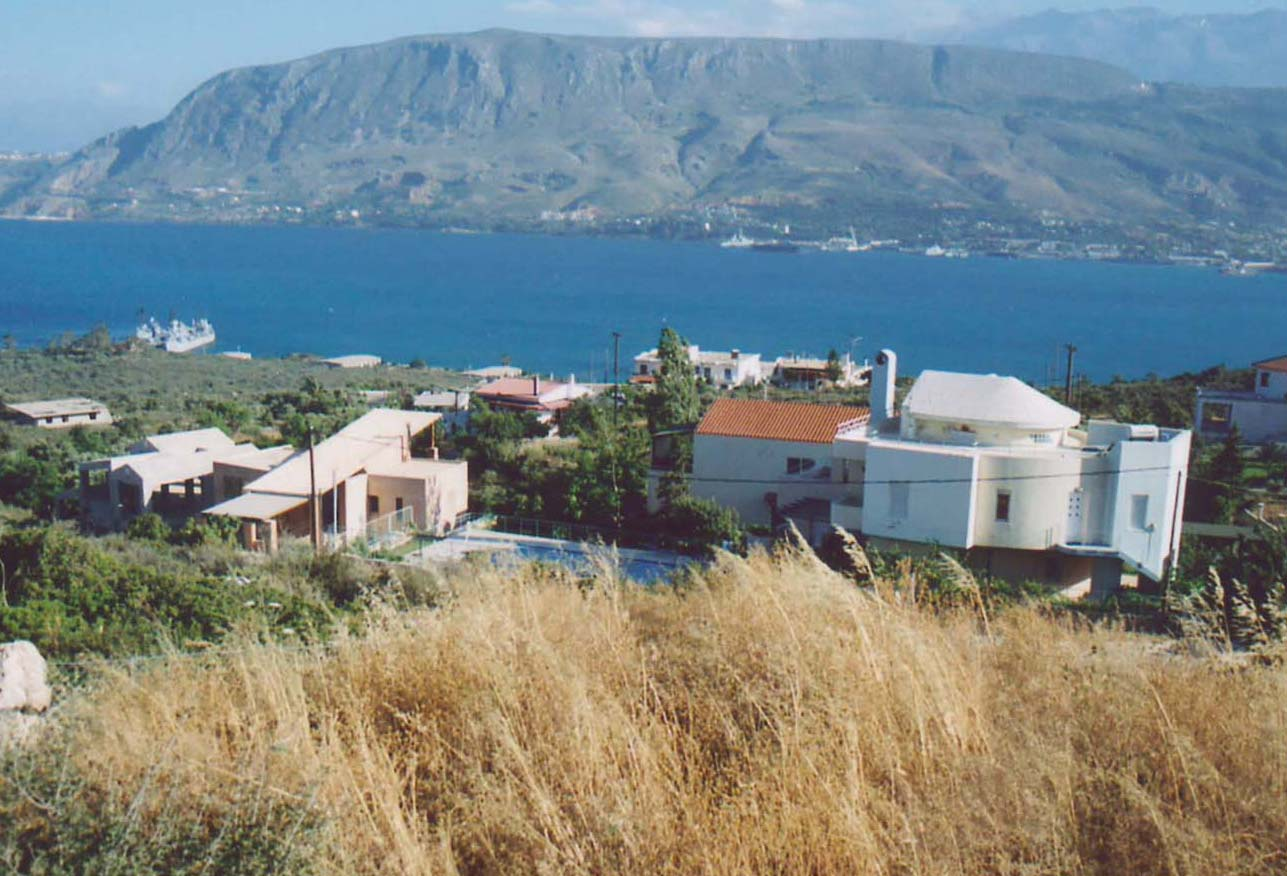 View of Souda Bay from hillside village of Pithari